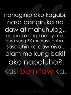 Tagalog Emo Quotes #sad love quotes #pinoy quotes http://ultimatedatingsystem.com/
