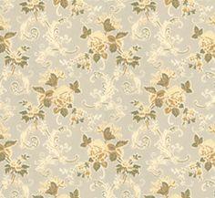 Lim & Handtryck Tapet - Hovdala blomma vit/gul - 118-127-2