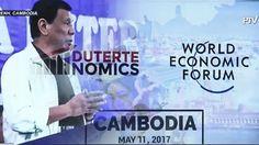 Rodrigo Duterte, World Economic Forum, News Today, Viral Videos, Cambodia, Watch Video, Youtube, Fictional Characters, Facebook