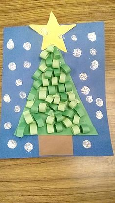 christmas tree kids craft Christmas Art Projects, Christmas Crafts For Kids To Make, Christmas Card Crafts, Christmas Fun, Christmas Decorations, Advent, Sensory Experience, December Holidays, Autism Activities