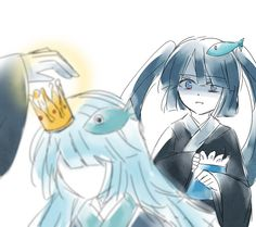 Wadanohara and the Great Blue Sea Fanart Uomi and Mikotsu