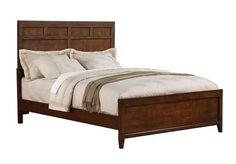 SLD Bayfield Medium Brown Wood Queen Bed