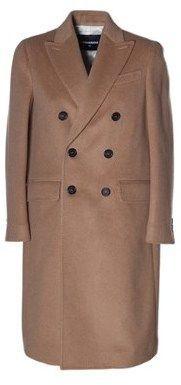DSQUARED2 Women's Beige/brown Wool Coat.