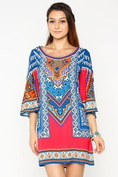Our light-weight Marakesh dress is a great print for summer that features colors that are totally Fall-ready also! $42 www.pandcboutique.com Free Shipping Always