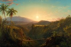 """Born on this day in Frederic Church painted this sublime, panoramic landscape in his studio ten years after a visit to Ecuador. """"Pichincha,"""" by Frederic Edwin Church Oil Painting On Canvas, Painting Prints, Canvas Art, Connecticut, Frederic Church, List Of Paintings, Oil Paintings, Google Art Project, Hudson River School"""