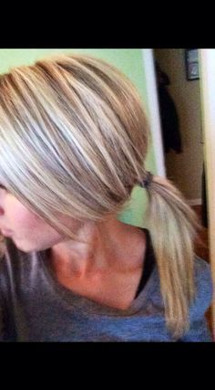 Blonde highlights and lowlights. Hope it works out exactly like this! Love it!!! Thank you Sarah M!!