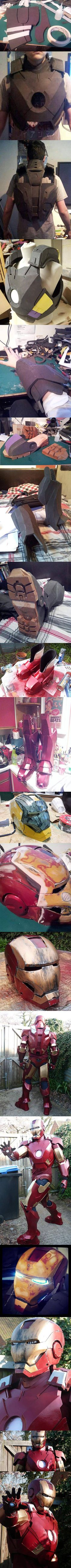 This incredible Iron Man suit was made entirely with foam.
