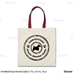 Certified Crazy Scottie Lady Budget Tote Bag