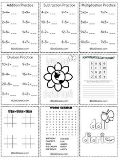 18 inch doll sized worksheets for playing school with your doll! Becki...I think Laina will love this!