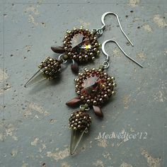 rivoli and spike earring idea