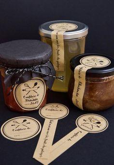 10 Adhesive kraft paper labels for your jars - REzepteInfinity - Honey Packaging, Dessert Packaging, Bakery Packaging, Cookie Packaging, Food Packaging Design, Bottle Packaging, Packaging Design Inspiration, Gift Packaging, Jam Label