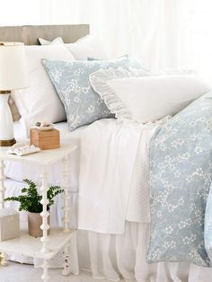 Blue and White Bedding ♥