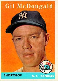 Gil McDougald 1958 Shortstop - New York Yankees Card Number: 20A