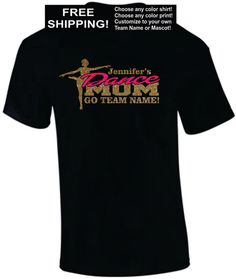 DANCE MOM Shirt / Child's Name / Team Name OR by MainStreetSports, $20.00
