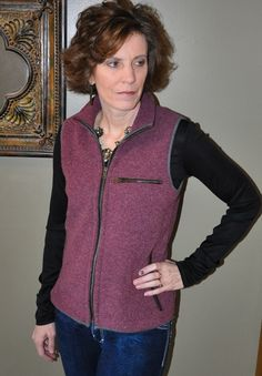 """The Aspen Fleece Vest pattern for women is the perfect transition piece between seasons. You can stay fashionable and warm even when the weather changes on a daily (and even sometimes hourly!) basis.Make sure you check out the matching patterns for the Men's Redwood Fleece Vest and the Kids' Willow Fleece Vest.Get bundle pricing on vest patterns - use the code """"2VESTS"""" for an extra 10%off the purchase of 2 vest patterns or """"3VESTS"""" for an extra 15% off the purch..."""