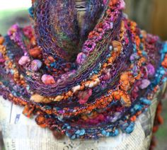 Rusted Ore Merino Hand Knitted/ Wearable Art by atomicblue on Etsy