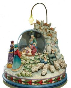 Holy Family Lighted, Revolving Musical Waterglobe