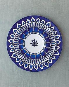 """Bleus d'Ailleurs"" from La Table Hermes (via Martha Stewart Weddings Magazine)"