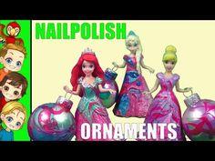 DIY Disney Princess resses and christmas onaments nailpolish