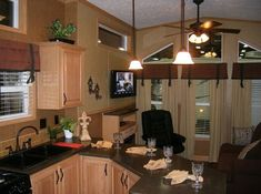 Tiny park model homes with different floor plans