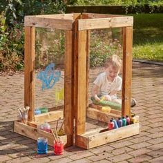 Outdoor mark making resources Outdoor Art, Outdoor Play, Outdoor Decor, Childrens Castle, Castle Playhouse, Fair Weather Friends, Mini Barn, Art Easel, Outdoor Classroom