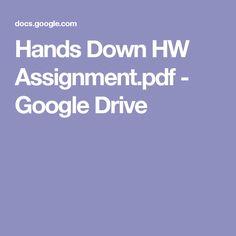 Hands Down HW Assignment.pdf - Google Drive