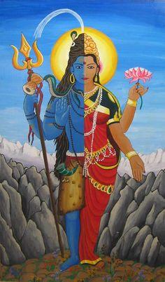 Hindu god Shiva Parvati united