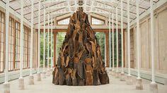 Cork Spire at Kew Gardens. David Nash.