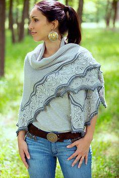 Ravelry: So close shawl pattern by Joji Locatelli from the Interpretations…