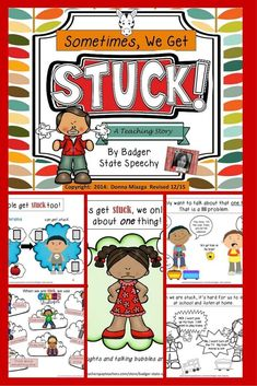 $ A teaching story to help students who are STUCK and can only talk about one thing, can't move on from being angry or struggle with other perseverative thoughts, language or actions!