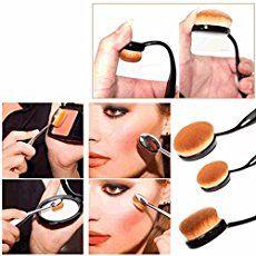 Oval Soft Brush Makeup Cosmetic Powder Foundation Face Eyeshadow Brushes Tool Kit