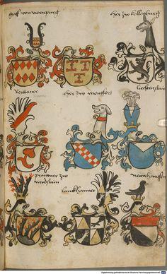 Wappen besonders von deutschen Geschlechtern Süddeutschland ?, 1475 - 1560 Cod.icon. 309  Folio 46r
