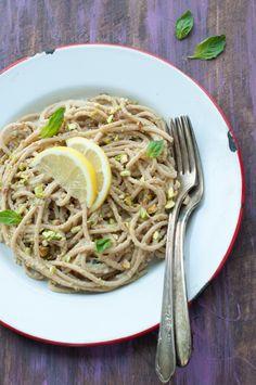 Pistachio Pasta, substitute GF spaghetti
