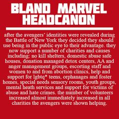Bland Marvel Headcanons-nothing bland about this one!!! I picture Steve suggesting this idea.