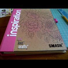 smashbook cover. I'm taking this smashbook to Bali... I may trace out the flowers on the plane. :)