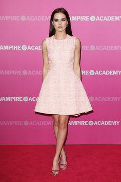 Zoey Deutch in Dior at the Sydney Vampire Academy premiere.
