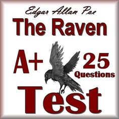 This is a 25 question multiple choice TEST for The Raven by Edgar Allan Poe  It…