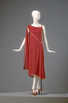 Madeleine Vionnet, French, 1876-1975 Dress, 1922 Silk crepe georgette with lamé edging