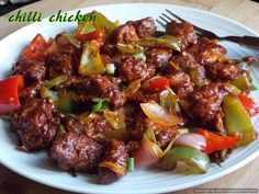 Chilli chicken (dry) Indo-Chinese style