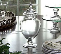 Glass apothecary jar - the perfect blank canvas for your decorating style.