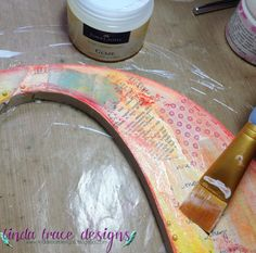 Use Gel Medium to adhere strips of paper to your crafts. Acrylic Tutorials, Mixed Media Tutorials, Gel Medium, Medium Art, Art Journal Techniques, New Baby Girls, Faber Castell, Life Planner, New Baby Products