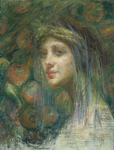The beautiful Goddess Ceres mother of Proserpina in the Roman Mythology.  She I guess is one of my favorites, being the goddess of agriculture and motherly relationships..  Ceres, 1901, by Alice Pike Barney