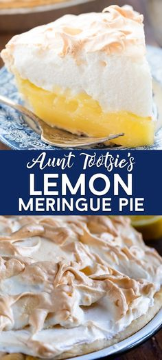 This simple Lemon Meringue Pie is the best! One of our family favorites made the old fashioned way with a creamy lemon filling and meringue on top! Ill show you step by step with photos and video just how easy it is to make this homemade pie! Easy Pie Recipes, Pie Crust Recipes, Lemon Recipes, Tart Recipes, Dessert Recipes, Lemon Pie Fillings, Pie Pastry Recipe, Pie Crusts, Cookie Recipes