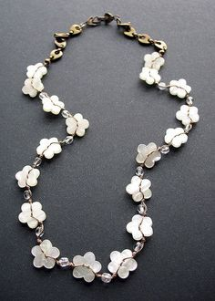DIY- Bohemain Mother Of Pearl Button Necklace (TUTORIAL) -Great ...