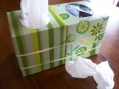 Keep an empty tissue box on hand to bind with a full one for when you get a cold. / 24 Easy Ways To Get Your Home Ready For Winter