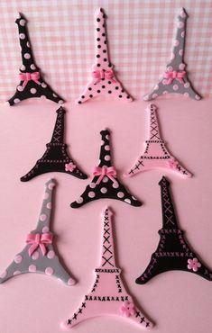 Paris,Oh La La cupcake toppers