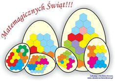 Układanki figuratywne z Wielkanocą w tle czyli... jeszcze więcej kreatywnej zabawy z logiką Kindergarten, Logic Puzzles, Busy Bags, Pattern Blocks, Montessori, Diy And Crafts, Easter, Teaching, School