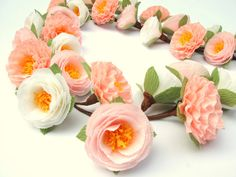Wedding Garland with Paper Flowers/ Wedding Arch by LandofFlowers, $38.00