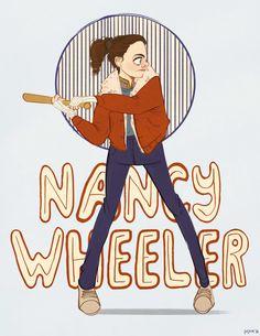 Nancy Wheeler art by Em Steinkellner - Stranger Things