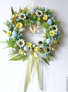 Grapevine Wreath, Happy Easter, Easter Eggs, Floral Wreath, Wreaths, Crafty, Spring, Decoration, Home Decor